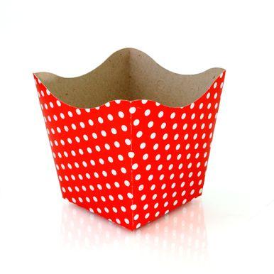cachepo-nc-toys-pequeno-10-unidades-vermelho-poa-branco