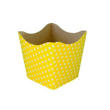 cachepo-nc-toys-pequeno-10-unidades-amarelo-poa-branco