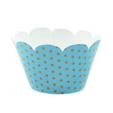 Wrap-Para-Cupcake-Azul-com-Poa-Marrom-2