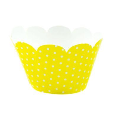 Wrap-Para-Cupcake-Amarelo-com-Poa-Branco-2
