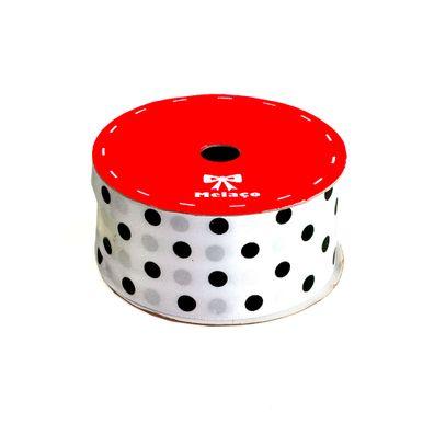 fita-cetim-melaco-40mm-branco-com-poa-preto-com-10m-1