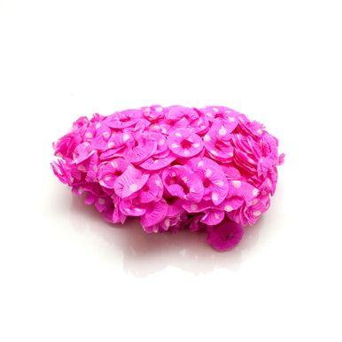 Rosa-pink-com-poa-branco