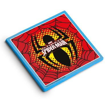 Guardanapo-Decorativo-Ultimate-Spiderman-25x25-C16-Folhas