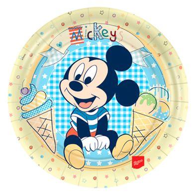 Prato-Redondo-18cm-Baby-Mickey-E-Amigos-C-8-Unidades