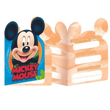Convite-Pequeno-Mickey-Diversao-3-Idiomas-C-8-Unidades