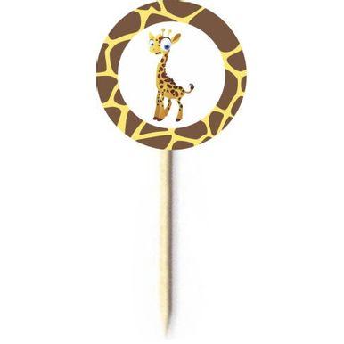 Palito-Decorativo-Duster-Safari-Girafa-C-10-Pecas-