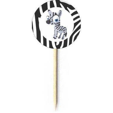 Palito-Decorativo-Duster-Safari-Zebra-C-10-Pecas