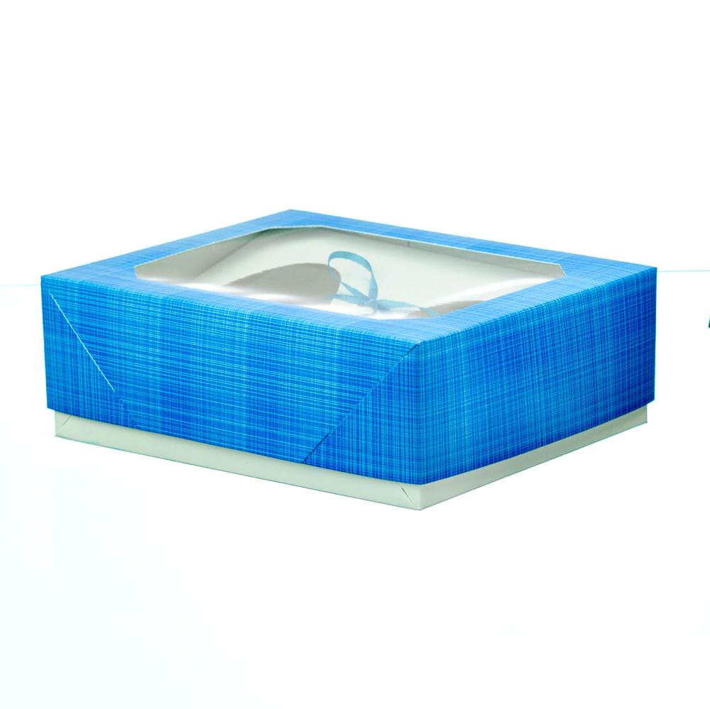 Caixa Para Ovo De Colher De 250gr 20x15x6,5cm Azul