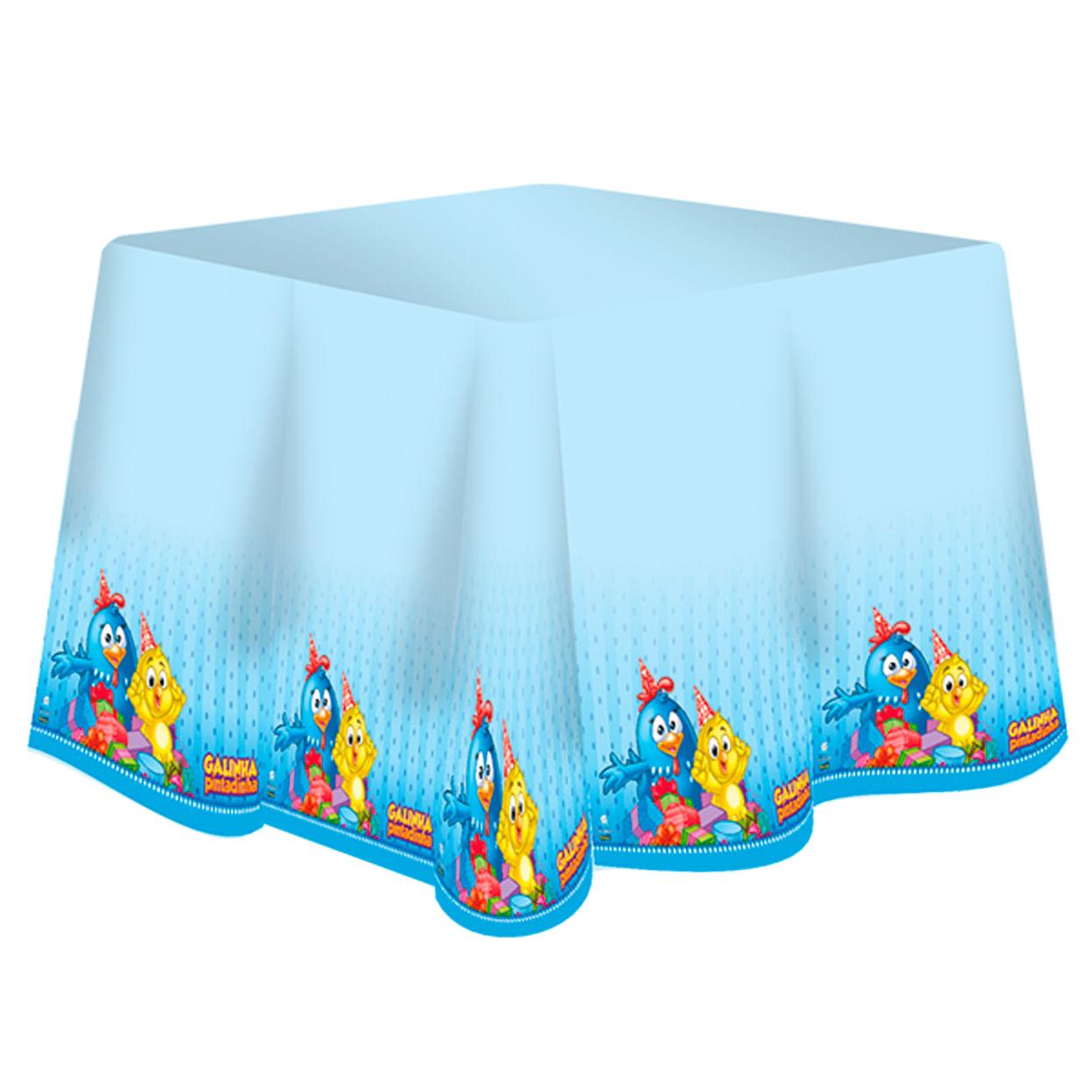 Toalha Plástica Galinha Pintadinha 1,28 X 1,80m C / 1 Unidade Único