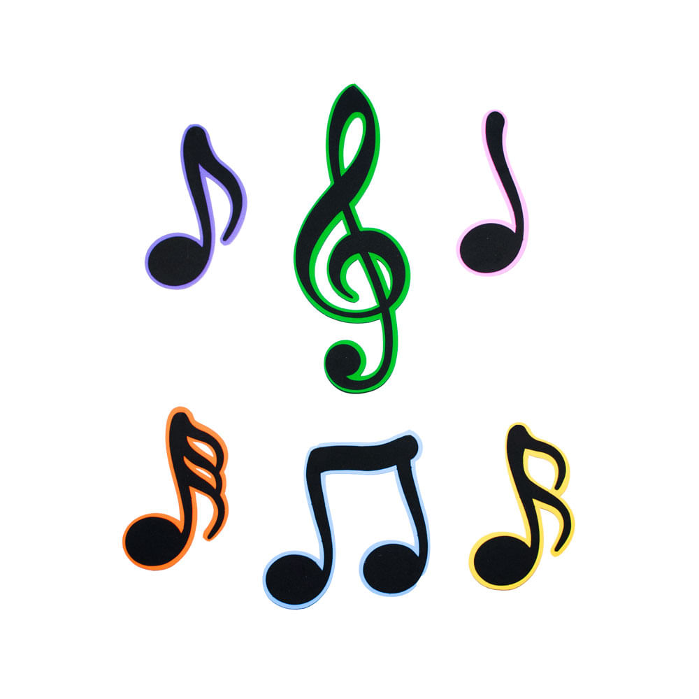 Cifras Desenhos ~ Painel Eva Notas Musicais Central 25