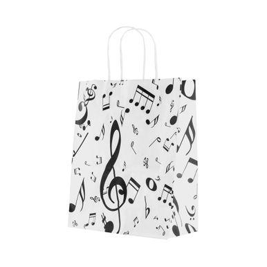 sacola-kraft-branco-fantasia-notas-musicais-18cm-X-09cm-X-22cm