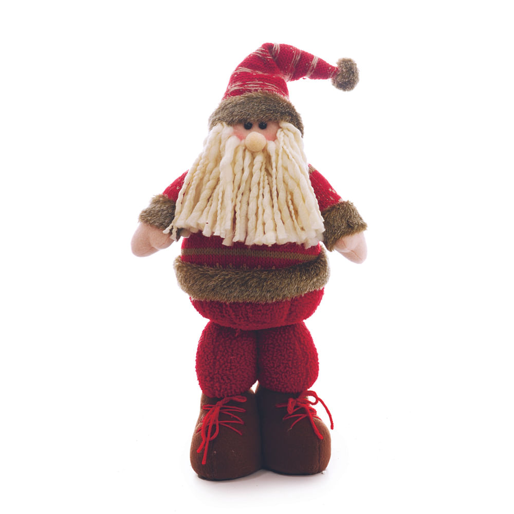 Papai noel em pé com roupa vermelha e marrom - Cod. Cromus: 1212835 Único