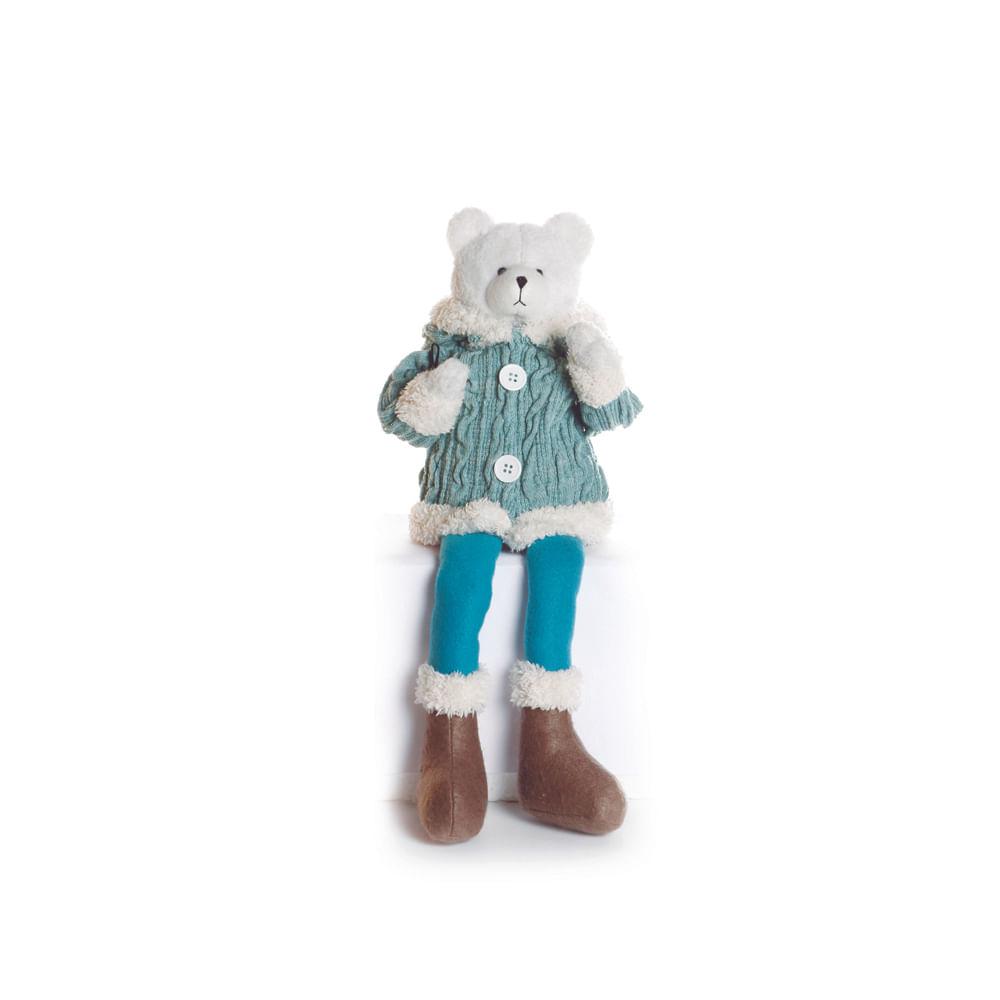 Urso sentado com roupa azul: 1410508 Único