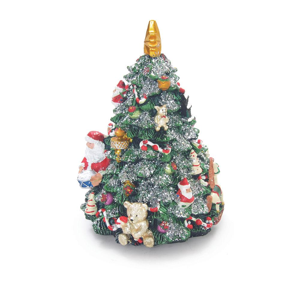 Árvore de natal musical colorida com Papai Noel com base de ferro giratória à corda - Cod. Cromus: 1619000 Único