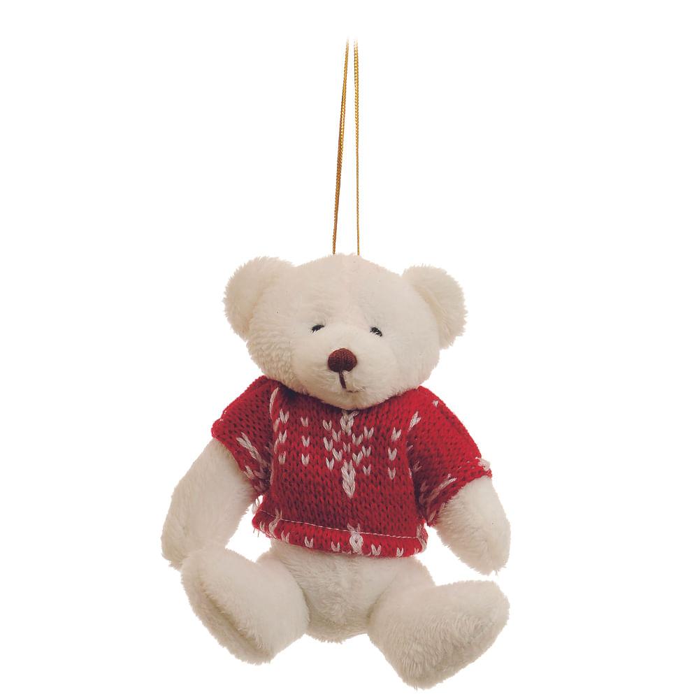 Urso creme com roupa de croche c / 6 Und: 1213892 Único
