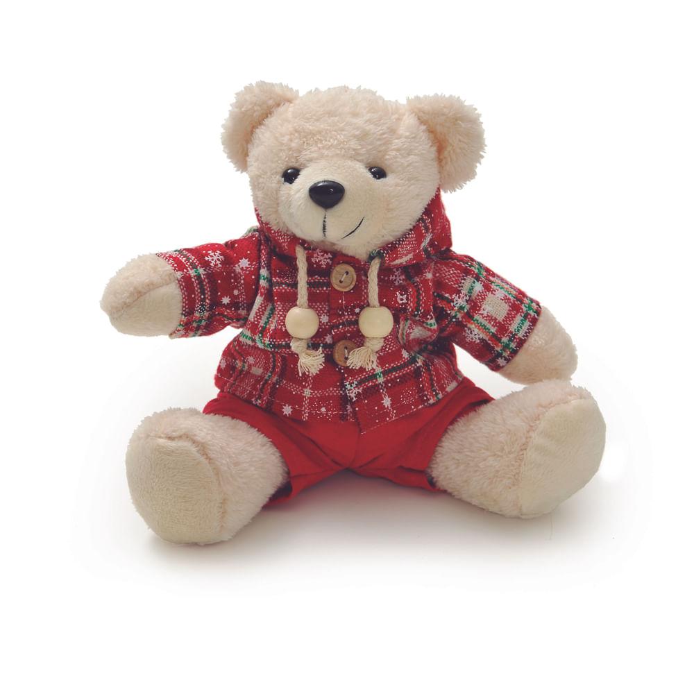 Urso com roupa xadrez c / 4 unidades: 1513663 Único