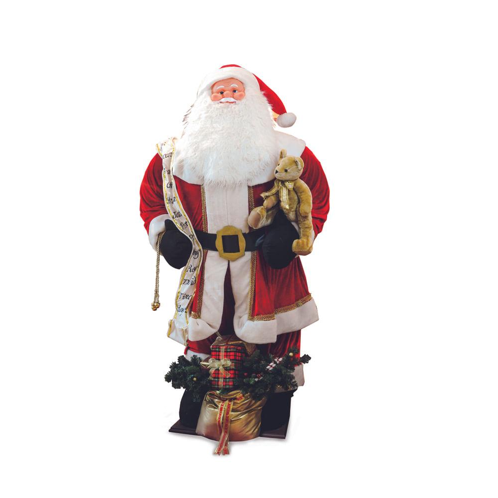 Noel inflável com roupa de veludo vermelha: 1615698 Único