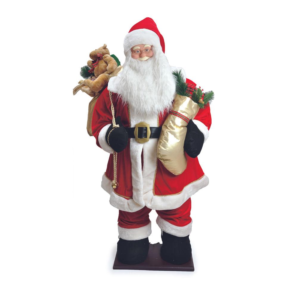 Noel inflável com roupa de veludo vermelha: 1615699 Único