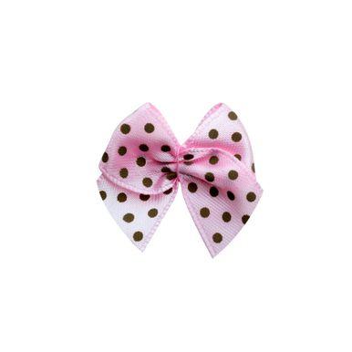 mini-laco-de-cetim-rosa-poa-marrom-pequeno