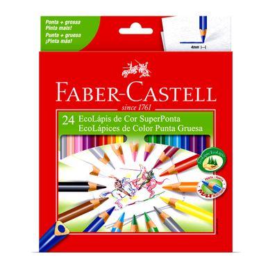 lapis-de-cor-faber-castell-ecolapis-superponta-c24-unidades