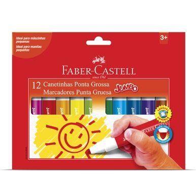 canetinha-ponta-grossa-jumbo-faber-castell-c12-unidades