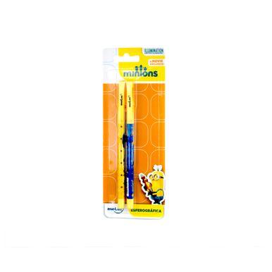 canetas-esferograficas-azuis-minions-molin-com-2-unidades