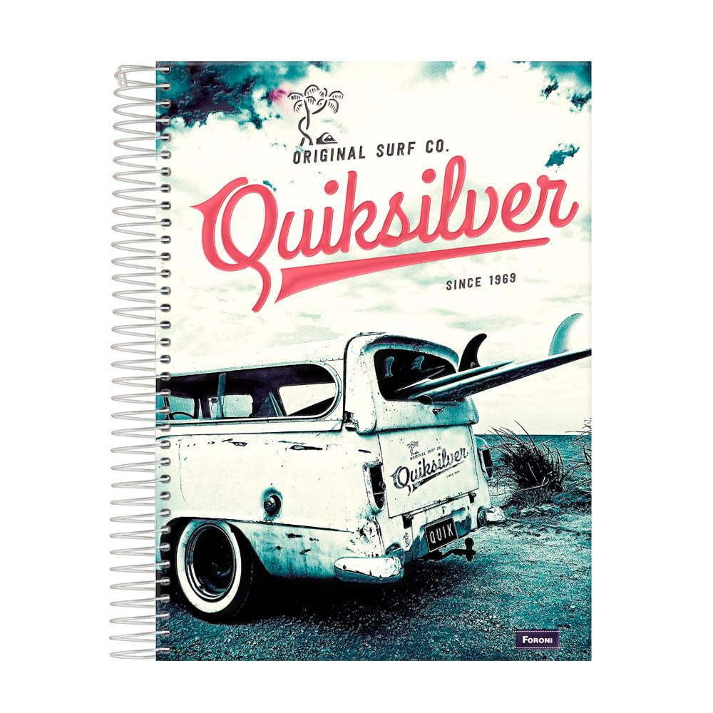 Caderno Universitário Quick Silver 300fls Carro E Prancha Único