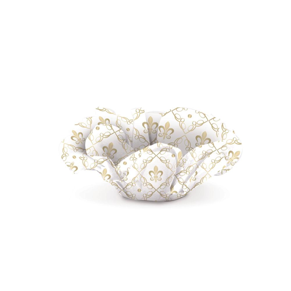 Forminha P / doce Roses Cromus Reinado Da Princesa Ouro C / 40 U Único