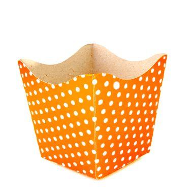 cachepo-nc-toys-pequeno-10-unidades-laranja-com-poa--branco