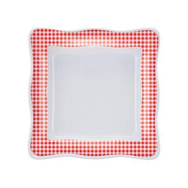 tigela-ondulada-quadrada-xadrez-vemelho