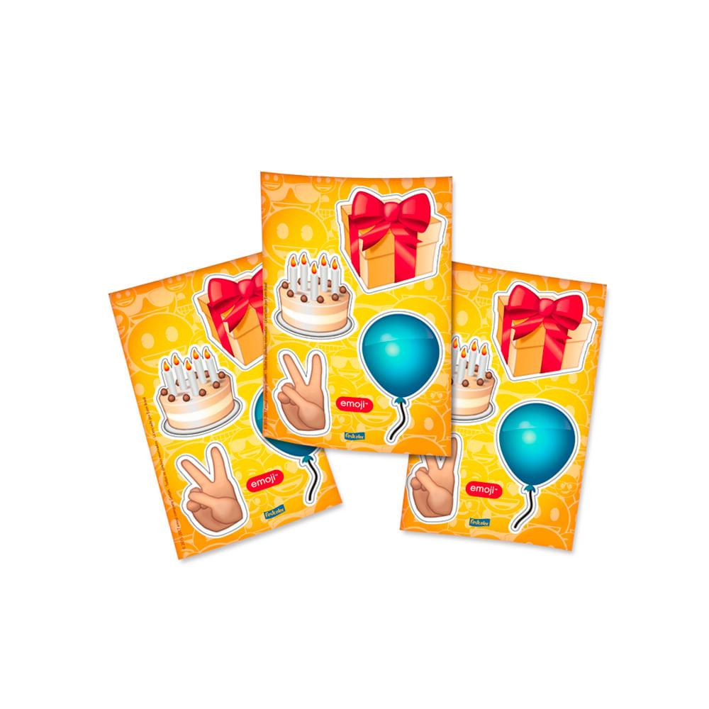 Adesivo Emoji Grande ~ Adesivo Especial Sortido Emoji C 04 Cartelas Central 25