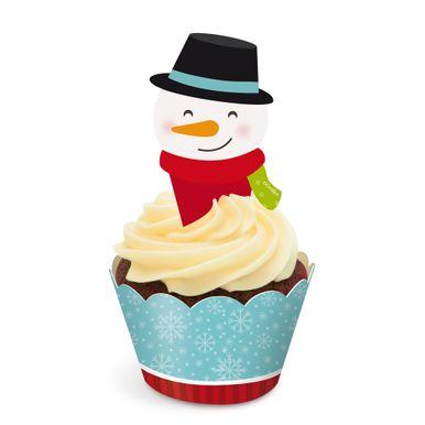 Natal_Cupcake_Wrap_e_Pick_Boneco_de_Neve