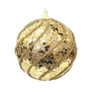 bola-dourada-decorada-com-glitter