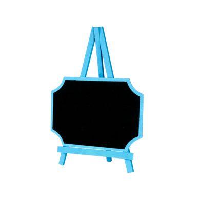 Lousa-C-cavalete-20x28cm-Retangular-C-canto-Curvo-Azul-C01-Unidade