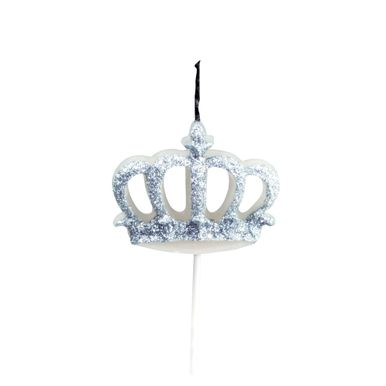 vela-coroa-glitter-prata