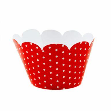 Wrap-Para-Cupcake-Vermelho-com-Poa-Branco