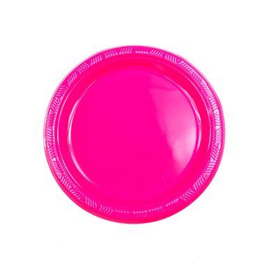 Prato-neon-rosa-18cm