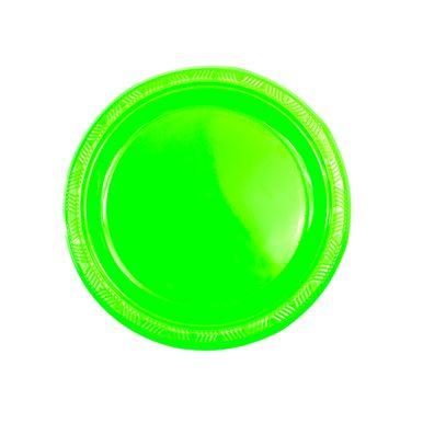 Prato-neon-verde-18cm