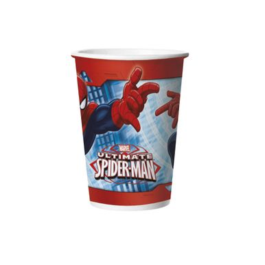 Copo-De-Papel-Ultimate-Spiderman-330ml-C8-Unidades-