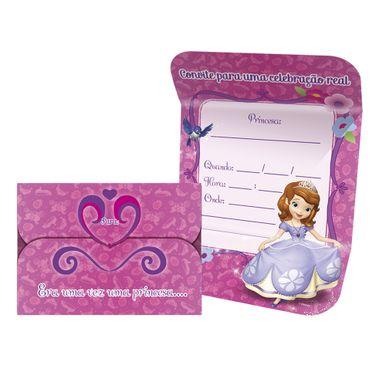 Convite-Pequeno-Sofia-The-First-3-Idiomas-C-8-Unidades