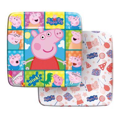 Prato-Quadrado-18cm-Peppa-Pig-C8-Unidades