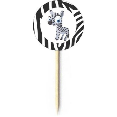 Palito-Decorativo-Duster-Safari-Zebra-C-10-Pecas