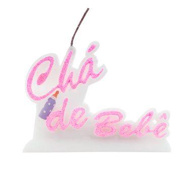 vela-cha-de-bebe-glitter-rosa