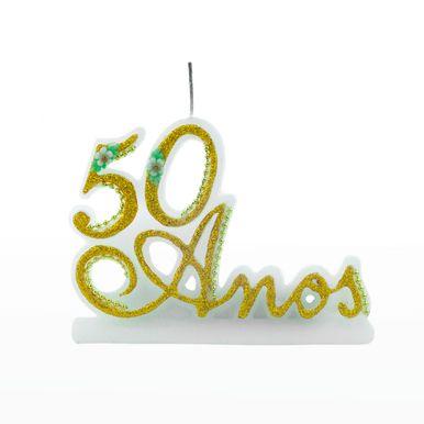 vela-50-anos-glitter-amarelo