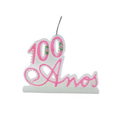 vela-100-anos-glitter-rosa