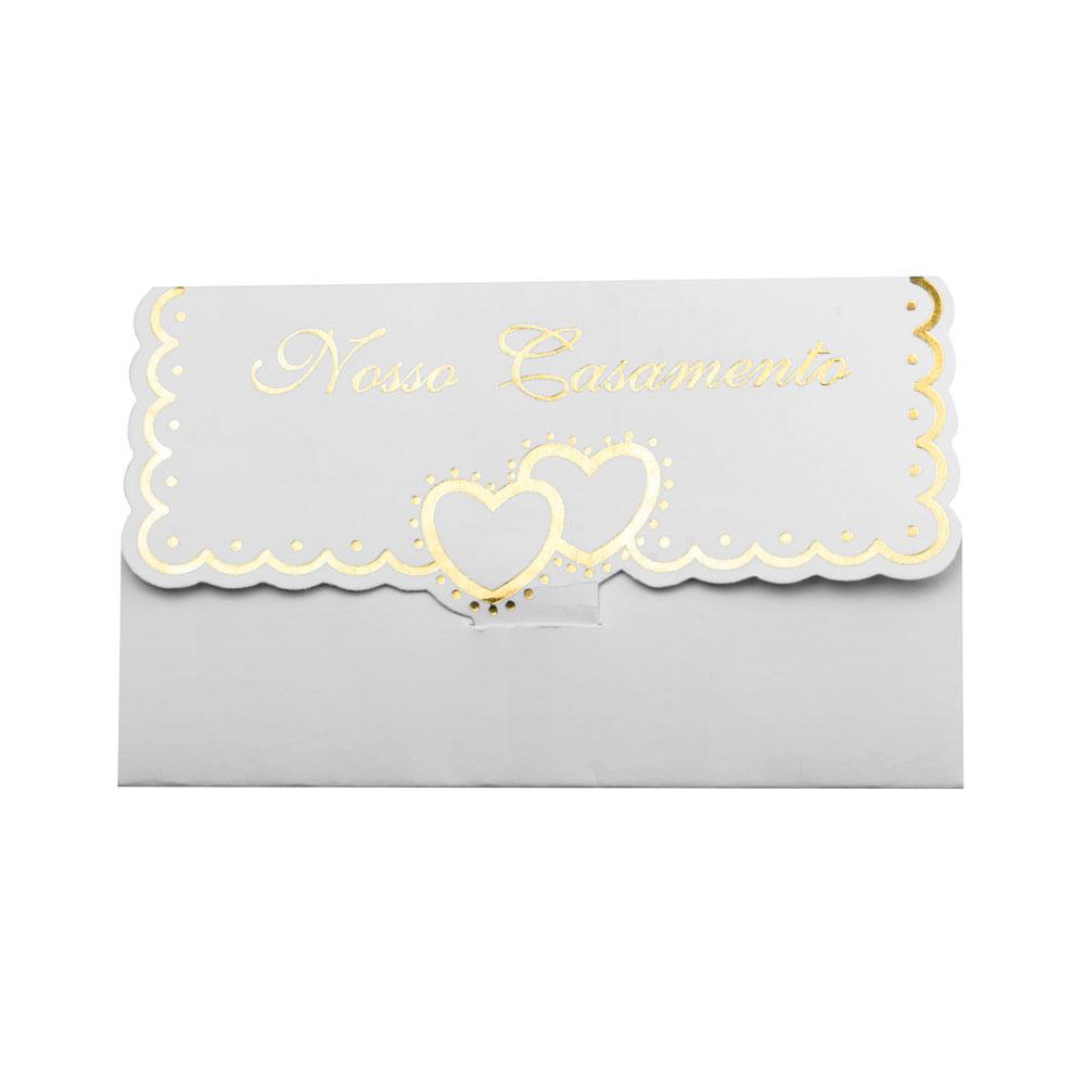 Convite Novocard Especial Hot Stamping Nosso Casamento C10 Central 25