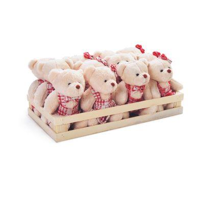 Caixa com ursos sentados vermelho e branco. C  12 unidades  1616352 92e214efa5c