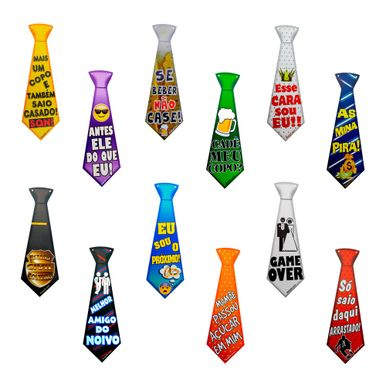 kit-gravatas-divertidas-casamento-C-12-UNIDADES