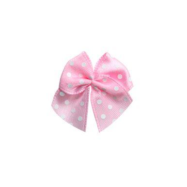 mini-laco-de-cetim-rosa-poa-branco-pequeno