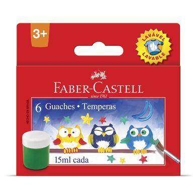 tempera-guache-lavavel-faber-castell-6-cores-15ml
